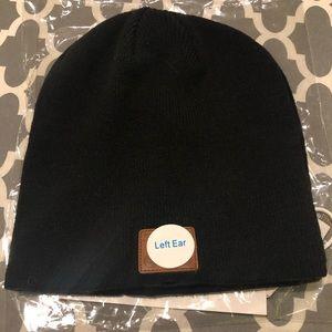 black stocking cap with speakers